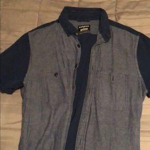 Blue buttoned down shirt